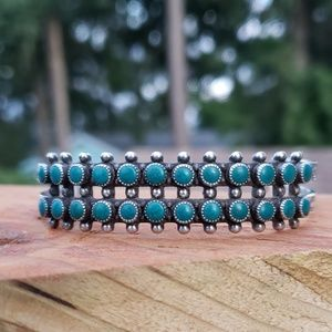 Turquoise Sterling Silver Native American Cuff